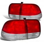 Honda Civic Sedan 1996-1998 Depo Red and Clear JDM Tail Lights