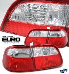 2000 Honda Civic Sedan Depo Red and Clear Euro Tail Lights