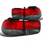2000 Honda Civic Coupe Depo Red and Smoked JDM Tail Lights