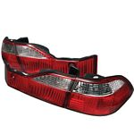 Honda Accord Sedan 1998-2000 Red and Clear Tail Lights