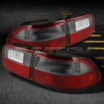 Honda Civic 1992-1995 Red and Smoked JDM Tail Lights