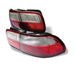 1993 Honda Civic Red and Clear JDM Tail Lights