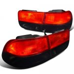 Honda Civic Coupe 1996-2000 JDM Tail Lights Red and Smoked