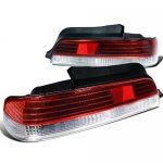 Honda Prelude 1997-2001 Red and Clear Tail Lights
