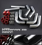 Universal 3 Inches Turbo Intercooler Piping Kit with Red Couplers