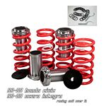 1993 Honda Civic Red Coilovers Lowering Springs Kit