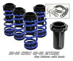 Honda Civic 1988-2000 Blue Coilovers Lowering Springs Kit with Scale