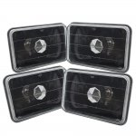 1991 Ford LTD Crown Victoria 4 Inch Black Sealed Beam Headlight Conversion Low and High Beams