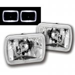 1988 Jeep Wrangler White Halo Sealed Beam Headlight Conversion