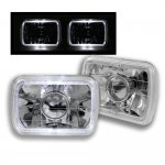 1987 Jeep Wrangler White Halo Sealed Beam Projector Headlight Conversion
