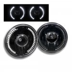 2005 Jeep Wrangler LED Black Sealed Beam Projector Headlight Conversion