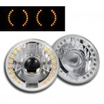 1976 Chevy Blazer 7 Inch Amber LED Sealed Beam Projector Headlight Conversion