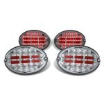 Chevy Corvette 1997-2004 Chrome LED Tail Lights
