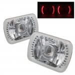 1985 Toyota Corolla Red LED Sealed Beam Projector Headlight Conversion