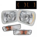 1995 Toyota Tacoma Amber LED Projector Headlight Conversion and Bumper Lights