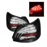 2008 Toyota Yaris Sedan Black LED Tail Lights