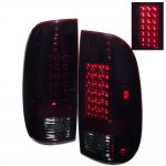 2007 Ford F350 Super Duty Red Smoked LED Tail Lights