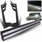 2014 Jeep Wrangler JK Dual LED Light Bars with Mounting Brackets