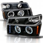 2010 GMC Canyon Black Halo Projector Headlights and Bumper Lights