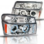 2010 GMC Canyon Chrome Halo Projector Headlights and Bumper Lights