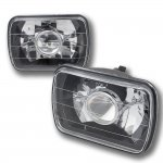 2000 Ford F250 Black Chrome Sealed Beam Projector Headlight Conversion