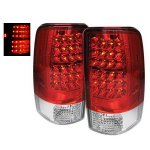 GMC Yukon XL 2000-2006 LED Tail Lights Red and Clear