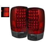 2003 Chevy Tahoe LED Tail Lights Red and Smoked