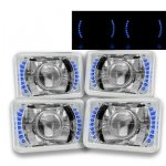 Chevy Caprice 1977-1986 Blue LED Sealed Beam Projector Headlight Conversion Low and High Beams