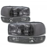 2007 GMC Sierra 1500HD Smoked Clear Headlights and Bumper Lights