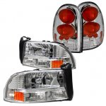 1998 Dodge Durango Chrome Headlights and Tail Lights