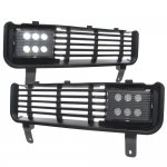 Dodge Ram 3500 1994-2002 Black LED Fog Lights and Bumper Grille Kit