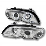 BMW E46 Projector Headlights 2002-2005 3 Series Sedan Dual Halo Chrome