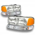 2000 GMC Sierra Chrome Headlights and Bumper Lights