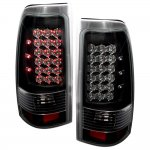 1999 Chevy Silverado LED Tail Lights Black Chrome