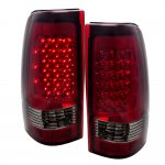 GMC Sierra 2500 1999-2003 LED Tail Lights Red Smoked