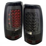 2003 GMC Sierra LED Tail Lights Smoked Chrome