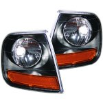 Ford Expedition 1997-2002 Harley Davidson Style Black Corner Lights