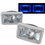 Mitsubishi Eclipse 1990-1991 Blue Halo Sealed Beam Projector Headlight Conversion