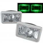 1988 Dodge Diplomat Green Halo Sealed Beam Projector Headlight Conversion