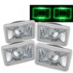 1987 Pontiac Grand AM Green Halo Sealed Beam Projector Headlight Conversion Low and High Beams