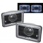 1984 Chevy El Camino Halo Black Sealed Beam Projector Headlight Conversion