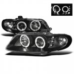 2004 Pontiac GTO Black Dual Halo Projector Headlights