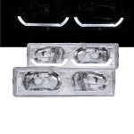 1993 Chevy 1500 Pickup Clear Headlights U-shaped LED DRL