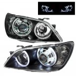Lexus IS300 2001-2005 Black Projector Headlights Dual Halo LED