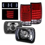 1991 Toyota Pickup Black Projector Headlights LED and LED Tail Lights