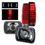 1986 Nissan Hardbody Black Projector Headlights LED and LED Tail Lights