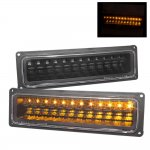 1998 Chevy 3500 Pickup LED Bumper Lights Black