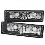 1998 Chevy 1500 Pickup Black Front Bumper Lights