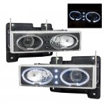 GMC Suburban 1994-1998 Black Halo Projector Headlights with LED