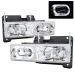 1990 GMC Sierra Halo Headlights Clear